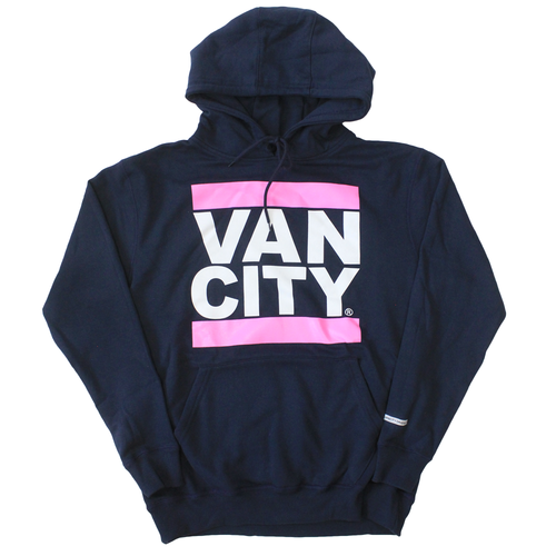 New Classic Fit UnDMC Hoodie - Navy/Fuschia