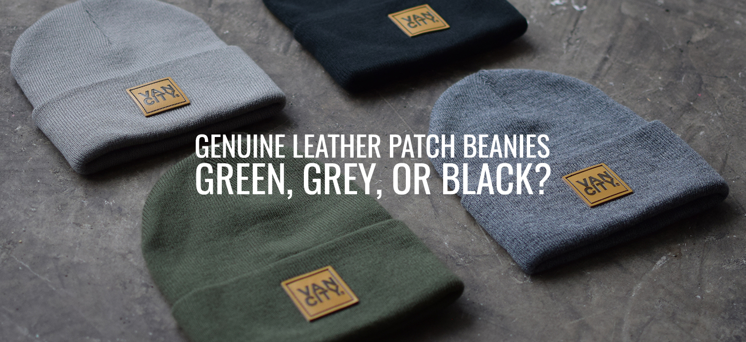 Leather Patch Beanies