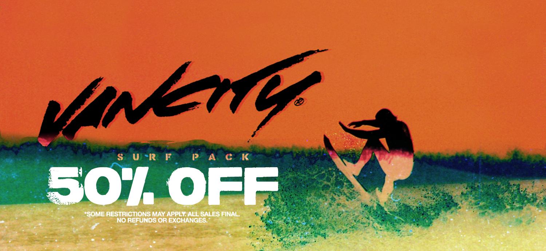 50% Off Surf Pack