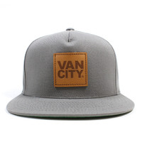 Vancity Original Leather Patch Grey 5 Panel Snapback