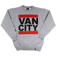 Vancity Original Heavy Weight UnDMC Heather Grey Classic Crewneck
