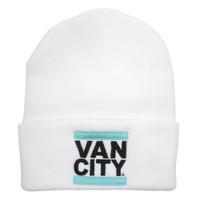Vancity Original UnDMC Classic Beanie - White & Teal