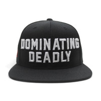 Dominating Deadly 6 Panel Snapback - Black