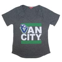 Women's Johnny Vancity® V-Neck Tee Shirt - Charcoal