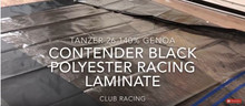 Tanzer 26 - 140% Genoa - Challenge Sailcloth ZZP Black Polyester Racing Laminate