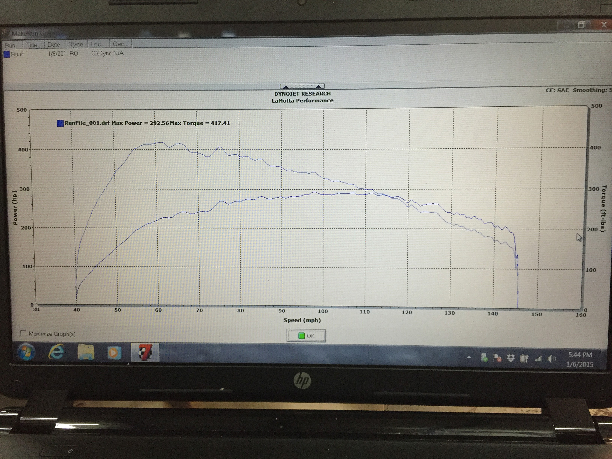2015 Mustang 2.3L Ecoboost Dyno Sheet