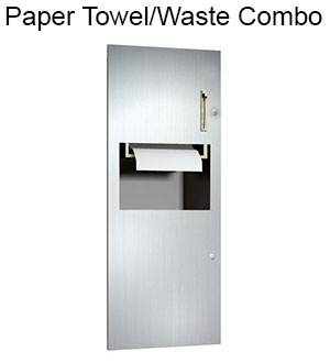 Paper Towel and Waste Combination Units