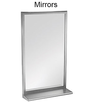 ASI Stainless Steel Frame and Frameless Mirrors