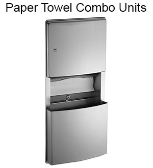 ASI Paper Towel Dispenser and Waste Receptacle Units