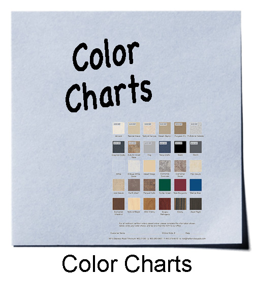 Color Charts for Restroom Compartments