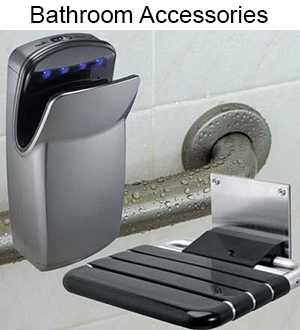 Huge inventory of Commercial Bathroom Accessories and Washroom Hardware