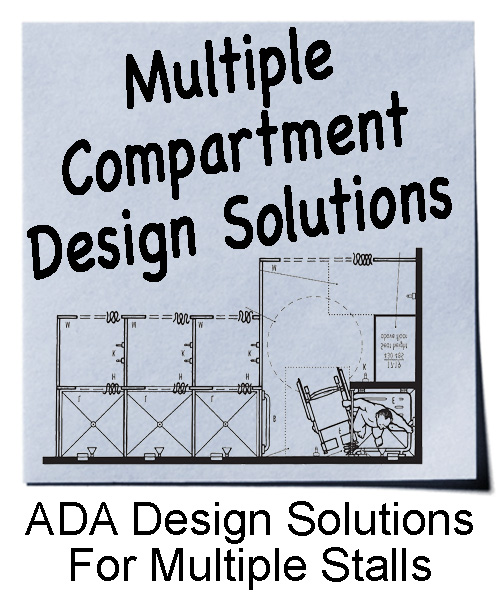 ADA Design solutions for multiple shower and dressing compartments