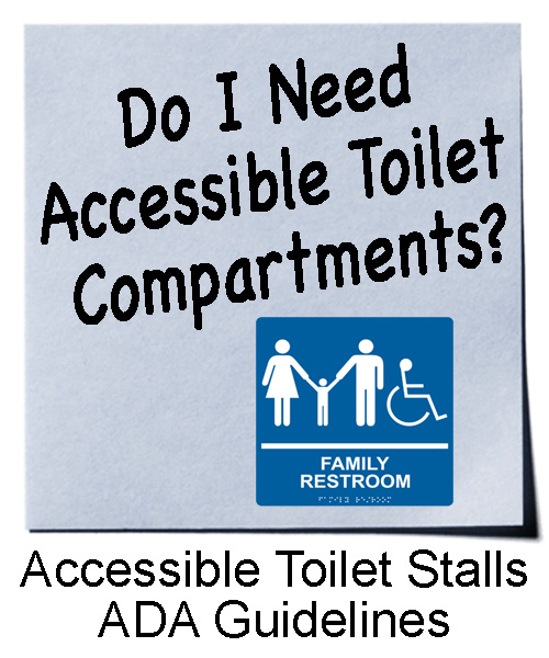 Accessible toilet compartments are required in all public restrooms