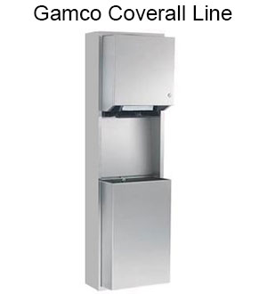 The Coverall line of bathroom accessories from Gamco