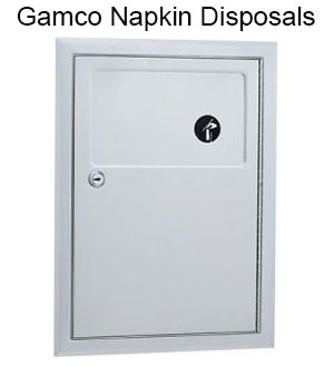 Gamco napkin disposals come in a variety of mountings and size