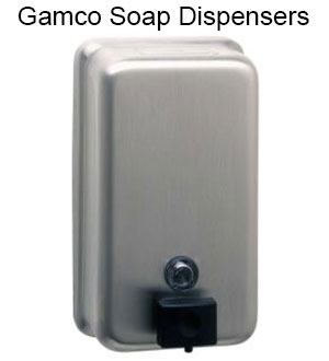 We sell Gamco soap dispensers