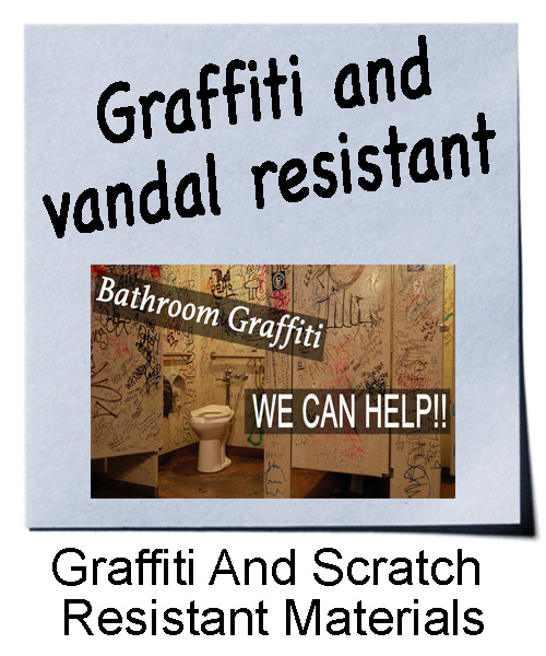 Graffiti and scratch resistant materials
