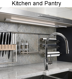 Kitchen and Pantry LED Lighting is Energy Efficient, Dimmable