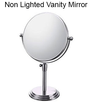 Vanity mirrors come in a variety of sizes, finishes, and amounts of zoom