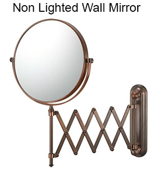 Wall mirrors come in a variety of sizes, configurations, finishes, and magnifications.