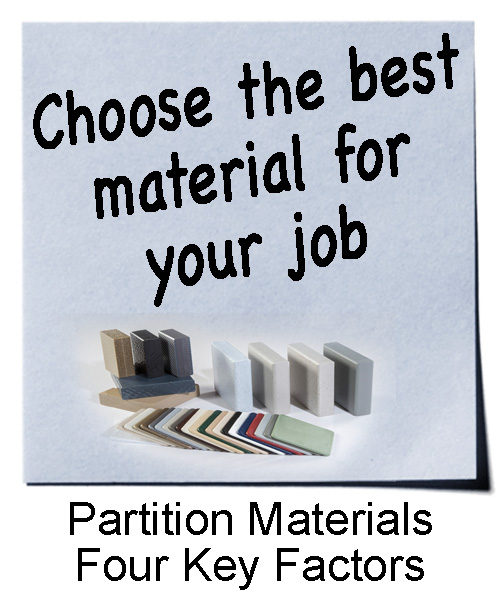 Choose the best partition material for your job.
