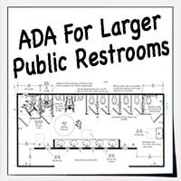 Large public restrooms