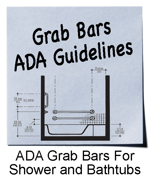 Toilet Grab Bar Height Ada controls and accessories for shower and bathtub | ada guidelines