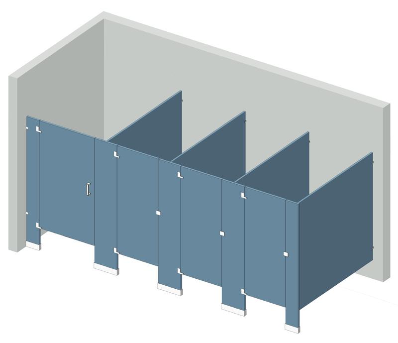 floor mounted bathroom partitions