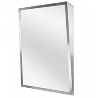 ASI Stainless Steel Framed Fixed Tilt Mirror