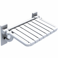 """HEWI 801 Series 20-1/16"""" Nylon Shower Seat with Fold Up Feature"""