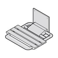 PBA Large Nylon Wall Mounted Fold Up Shower Seat