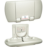 ASI Surface Mounted Solid Polymer Baby Changing Station