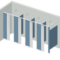 Shower Compartment - In Corner - Left Hand - 4Stall IC4L