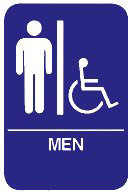 "Cal-Royal 6"" X 8"" ADA Men's/Handicap Restroom Sign with Braille"