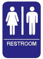 "Cal-Royal 6"" X 8"" ADA Unisex Restroom Sign with Braille"