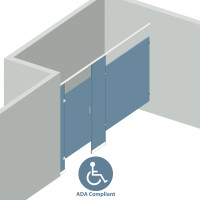 Alcove Left Hand - 1 Stall ADA