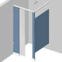 Shower Compartment - In Corner - Left Hand - 1Stall IC1L