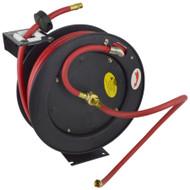 Retractable 50ft Air hose on Reel 3/8 BSP Spring Rewind Wall Mountable BSP TE524
