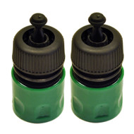 "1/2"" Quick Release Garden Hose Female Pipe Adapter With Stop Lock Fitting 2 Pack"