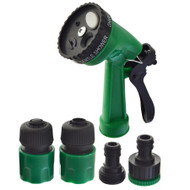 Garden Hose Connector Set Spray Gun Water Sprayer And Hose Pipe Fittings 5pc