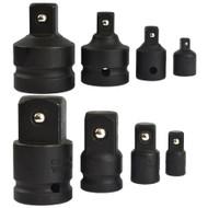 "Socket Adapter Adaptor Reducer Step Up Set Imapct 1/4"" - 1"" 8pc Set TE813"