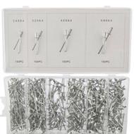 Metric Aluminium Blind Pop Rivets Assortment Set Fastener 2.4 – 6.4mm 400pcs