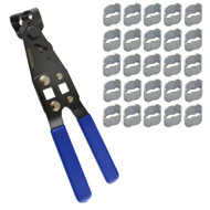 Double Ear Pipe Tube Clips Clamps Hose 5 – 7mm 25pcs And CV Joint Boot Pliers