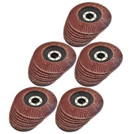 "50 x Flap Discs 60 Grit Angle Grinder 4.5"" (115mm) Flat Sanding Grinding AT929"