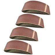 Belt Power Finger File Sander Abrasive Sanding Belts 457mm x 75mm 80 Grit 20 PK