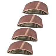 Belt Power Finger File Sander Abrasive Sanding Belts 457mm x 75mm 40 Grit 20 PK