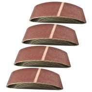 Belt Power Finger File Sander Abrasive Sanding Belts 533mm x 75mm 80 Grit 20 PK