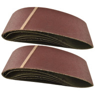 Belt Power Finger File Sander Abrasive Sanding Belts 610mm x 100mm 120 Grit 10PK