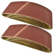 Belt Power Finger File Sander Abrasive Sanding Belts 610mm x 100mm 60 Grit 10 PK