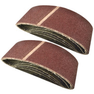 Belt Power Finger File Sander Abrasive Sanding Belts 610mm x 100mm 40 Grit 10 PK